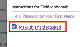 make this field required