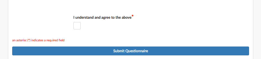 example tick box questionnaire