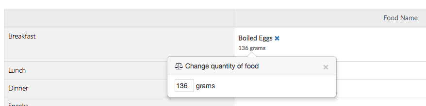 eggs in grams