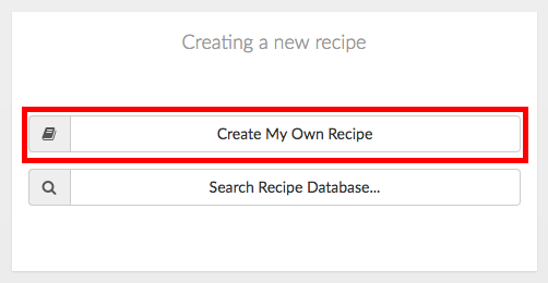 creating my own recipe
