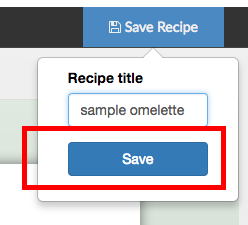 naming a recipe