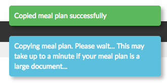 confirmation of meal plan copy