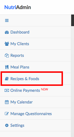 How to customize the recipes provided in the database nutriadmin docs recipes and foods menu forumfinder Image collections