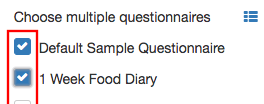 ticking boxes for questionnaires