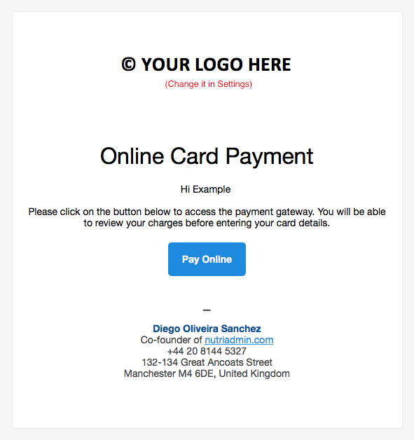 example payment email