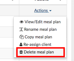 delete meal plan