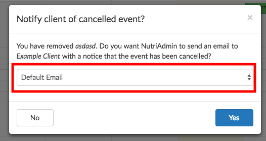 cancel event
