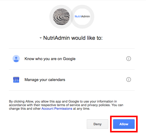 google-settings-nutriadmin